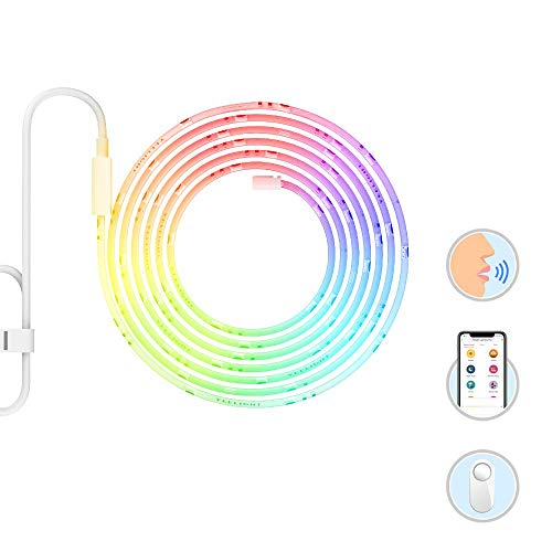 Yeelight Smart Wi-Fi LED Light Strip, Extendable, Multicolor, Dimmable, Music Sync, Tape Strip Lights, App & Voice controll,Alexa Compatible,no hub Required,Smart Home RGB Ambiance Light]()