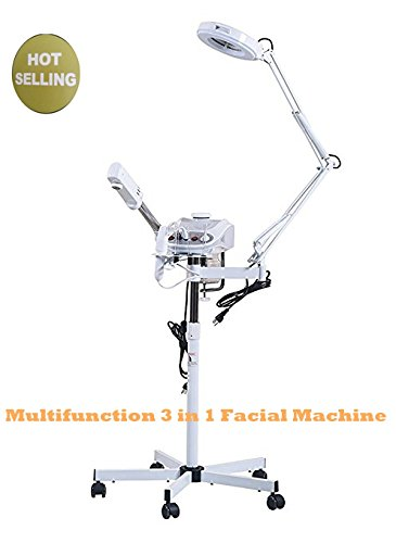 3 in 1 Facial Furniture Spa Equipment Machine Beauty Tool Include Facial Steamer & 5X Magnifying Lamp & High Frequency Hot Ozone Machine from BeautySPA