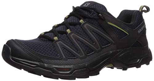 Salomon Men's Pathfinder Trail Running Shoe, Night Sky/Black/Martini Olive, 8 M - Trail Waterproof Running Shoe
