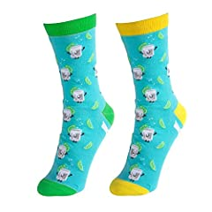 Late Night Last Call by Pavilion features hand drawn illustrations by our talented in-house artist. Small cute faces have been added to alcohol bottles, glasses and matching fruits to add a cute touch to these comfortable unisex socks. Put on...