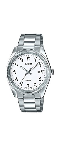 Casio MTP1302D-7B3V Men's Stainless Steel White Easy Reader Dial (Arabic-Indic) Watch