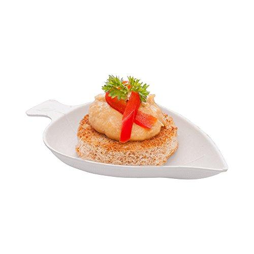 Lemon Plate Salad Tree - Bagasse Tasting Plate, Mini Tasting Dish - Durable All Natural, Biodegradable, Disposable Material - 3.7