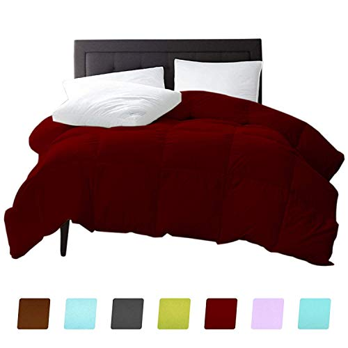 New York Mercado 100 Organic Cotton Comforter Luxury And Premium Quality Quilted With Corner Tabs 500 Gsm Gots Certified 800 Tc All Season Warm Fluffy Ultra Soft Comforter King Cal King Burgundy