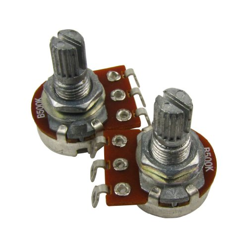 Mini Potentiometer - Musiclily 15mm Guitar Mini Size Pots 500K Short Split Shaft Linear Taper Potentiometers (Pack of 2)