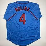 Unsigned Yadier Molina St. Louis Blue Custom
