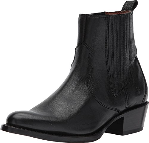 FRYE Women's Diana Chelsea Boot, Black Pebbled Buffalo, 7.5 M US