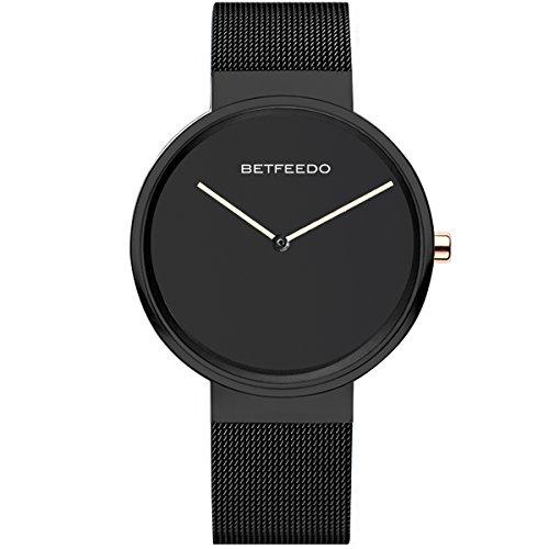 - Watches,Mens Watches,Women Watches, BETFEEDO Waterproof Analog Quartz Dress Wrist Watch with Mesh Milanese Bracelet