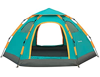 Wnnideo Instant Family Tent 4-5 Person Large Automatic Pop Up Tents Waterproof for Outdoor Sports Camping Hiking Travel Beach