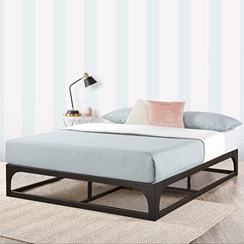 Mellow Metal Platform Bed Frame w/Heavy Duty Steel Slat Foundation, Black