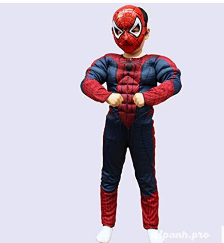 Hanasi Christmas Boys Muscle Super Hero Costume Spiderman Costumes Cosplay Red -