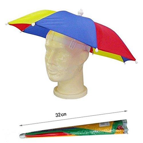 Hyfive Regenschirm Hut Neuheit nach Kostüm hut Ladies Mens Multi Color Festival hat