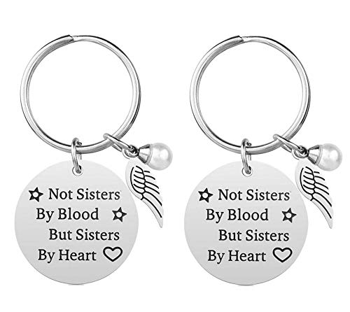 2-Pack Stainless Steel Keychain Best Friendship Gifts for Friend Women Female Girls Sister Birthday -Funny-Graduation Gift (Best Birthday Gift For Best Friend Girl)
