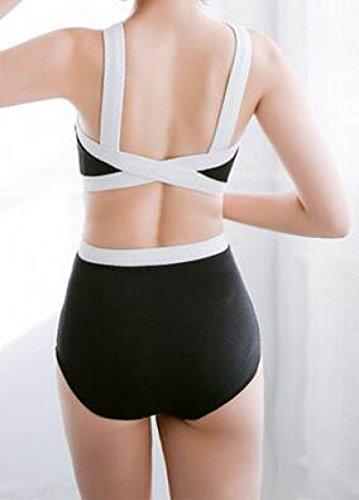 TAOZHN Bikini Bikini Femenino S M L XLM Deportes Acuáticos De Vanguardia Fitness Bikini Temperamento Spa Costura Traje De Baño White