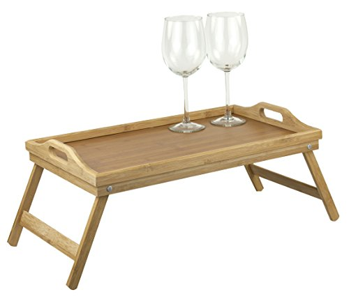 - Home Basics Bamboo Breakfast Bed Tray, Natural