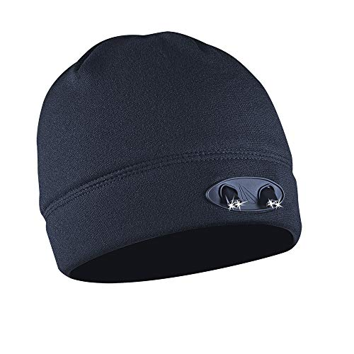 Panther Vision POWERCAP LED Beanie Cap 35/55 Ultra-Bright Hands Free LED Lighted Battery Powered Headlamp Hat - Navy Fleece (CUBWB-4737)