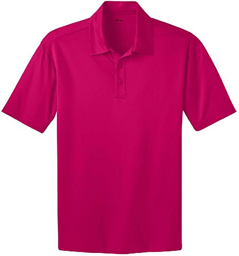 Joe's USA TM Men's Tall Short Sleeve Moisture Wicking Polo Shirt-Raspberry-3XLT