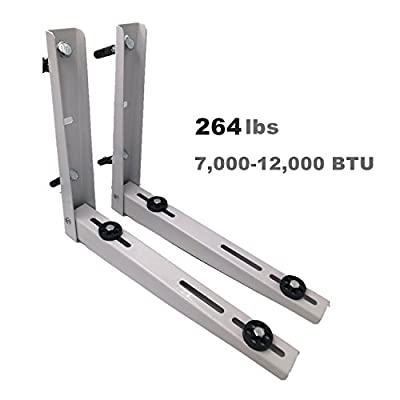 Wall Mounting Bracket for Ductless Mini Split Air Conditioner Condensing Unit 1-2P, Support up to 265lbs (7000-12000 BTU)