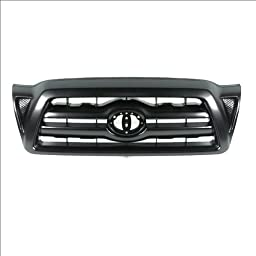 CarPartsDepot, Front Grille Replacement Black Plastic Without Emblem, 400-44543 TO1200269 5310004350