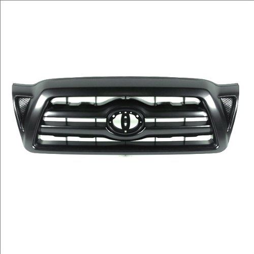 (CarPartsDepot, Front Grille Replacement Black Plastic Without Emblem, 400-44543 TO1200269)