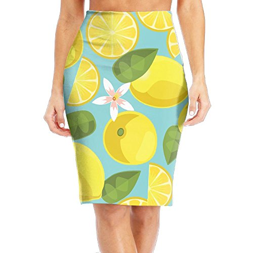 Nice Alin-Z Lemon Women's High Waisted Tight Skirts Pencil Skirt free shipping