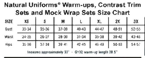 Natural Uniforms Women's Mock Wrap Scrub Set