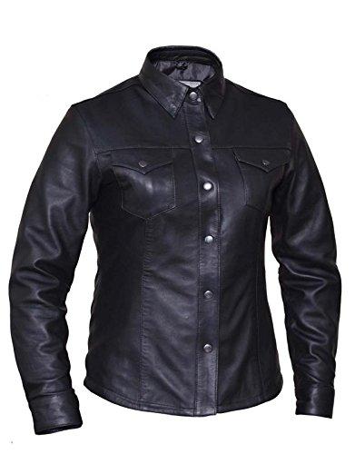 Unik International Ladies Premium Lightweight Leather Motorcycle Shirt 2XL from Unik International