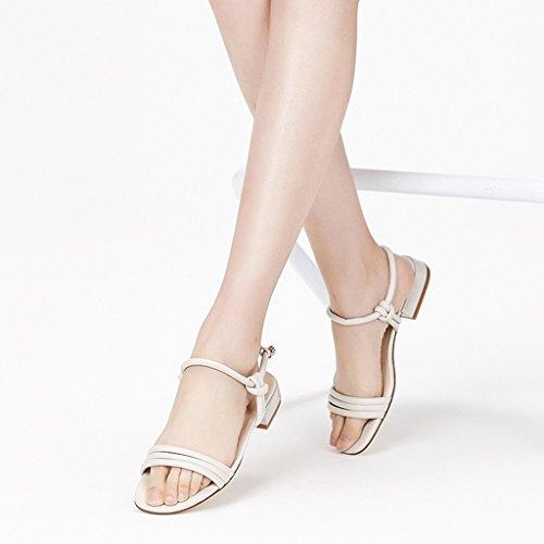 Été Eu Fine Blanc 35 37 Jianxin Et Sandales Confortable 6 24cm us 39 4 jp Couture À Des VergescouleurBlancTaille Femelle Bande Vert uk Rose Plates DWHI9Y2E