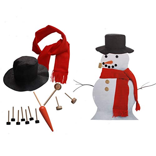 ODOSAN Christmas Snowman Suit Accessories Make Snowman Kit Toy Gift