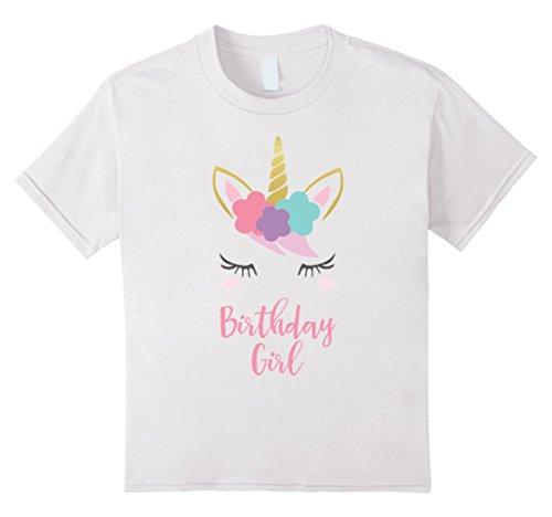 - Kids Unicorn Birthday T-Shirt, Unicorn Gift, Birthday Outfit 6 White