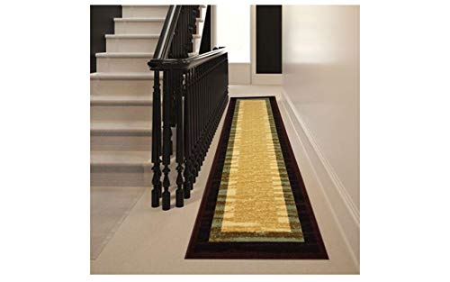 SavaHome 2703 2X7 Non-Slip Rubber Back Extremely Durable Anti-Slip Water Resistant Floor Mat for Kitchen Hallway Entrance Doormat Home Décor Smooth Rug Type Thin Runner Mat (Best Type Of Rug For Kitchen)
