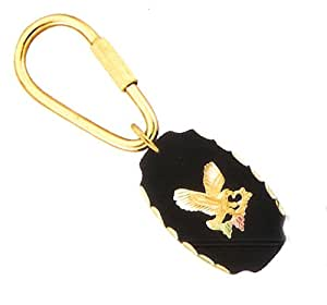 Yellow-gold Black Hills Gold American Eagle Key Chain