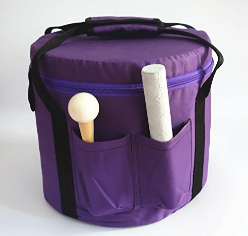 CVNC Purple Color Padded Carrying Case For Crystal Singing Bowl Putting 10 Inch