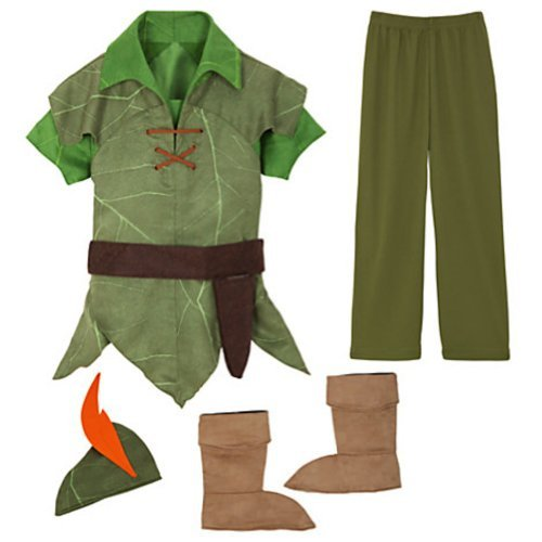 Disney Store Official Licensed Peter Pan Costume Size Small 5/6