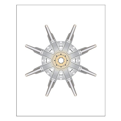 CafePress - The Dharma Wheel High Quality Poster on Heavy Semi-gloss Paper
