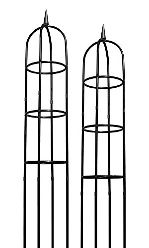 Classic Obelisk - BestNest Gardman R352 Classic Garden Obelisks, Black, 96