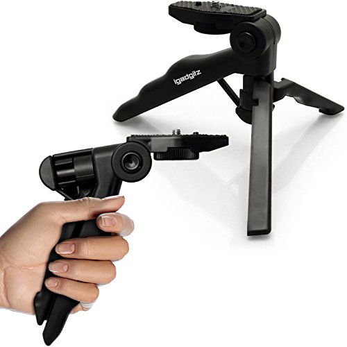 iGadgitz 2 in 1 Pistol Grip Stabilizer and Mini Lightweight Table Top...