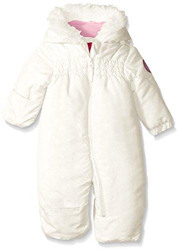 Weatherproof Baby Girls' Heart Print Hooded Pram, Winter White, 6-9 Months