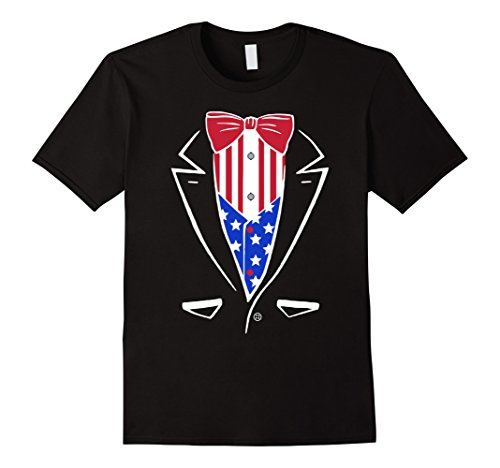 Men's USA Pride American Flag Tuxedo T-Shirt Large (United States Costume For United Nations)