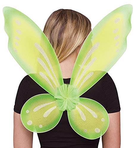 Green Fairy Costumes (Fun World Women's Fairy Adult Wings Costume Accessory, green,)