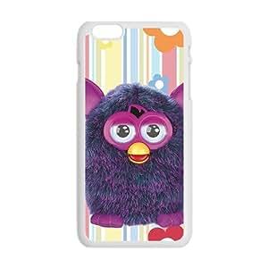 Hairy Soft Cute Animal Cartoon White Phone Case for iPhone plus 6