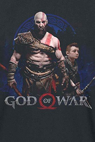 Sony God of War Mens Kratos /& Atreus T-Shirt Black Uomo Nero GE6243L Large