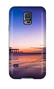 Tpu Case For Galaxy S5 With Fantastic Purple Sky