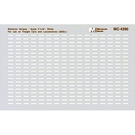 Mini-Cal Conspicuity Markings 2005+ (Reflector Stripes for Locos & Cars) - White