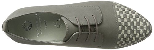 Be Natural 23203, Zapatos de Cordones Oxford para Mujer Gris (Lt. Grey 204)