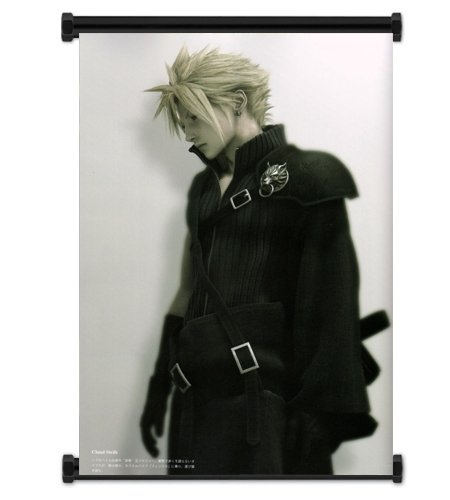 Final Fantasy VII Advent Children Cloud Fabric Wall Scroll P