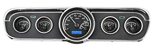 Dakota Digital 65 66 Ford Mustang Analog Dash Gauge Black Alloy Blue VHX-65F-MUS-K-B