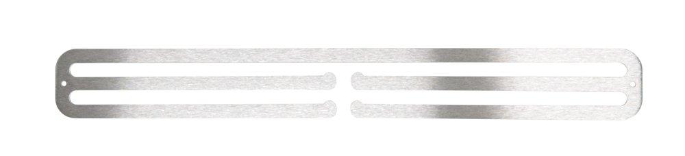 extensor de 3 mm de acero inoxidable cepillado Colgador doble para medallas