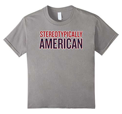 Kids Stereotypically American T-shirt Sports Fan Shirt 8 Slate