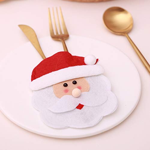 CHoppyWAVE Cutlery Pouch, Christmas Tableware Case Silverware Spoon Fork Holder Pocket Santa Dinner Decor - 1# by CHoppyWAVE (Image #7)