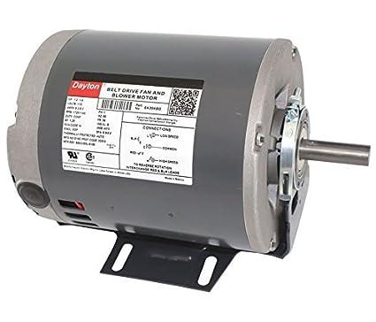 amazon com 1 2hp 1725 rpm 2 speed 115v whole house fan motor dayton rh amazon com
